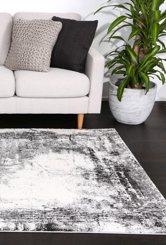 Momo Modern Distressed Grey Rug