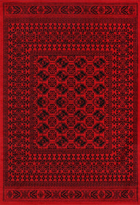 Tribute Traditional Afghan Red Rug