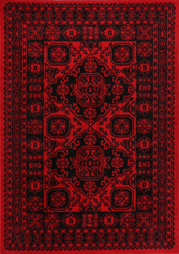 Tribute Afghan Traditional Red Rug