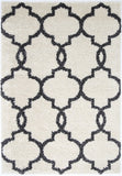 Siesta Lattice Cream Charcoal Shag Rug