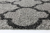 Siesta Lattice Grey Charcoal Shag Rug