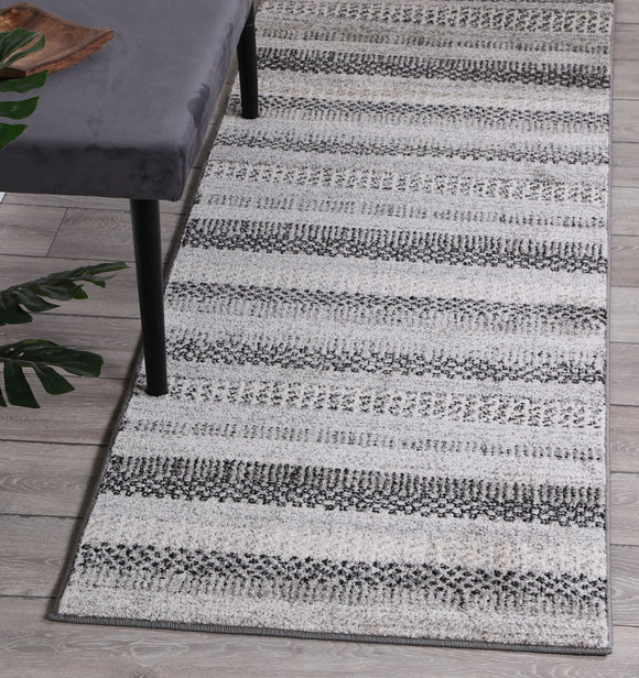Symphony Scandi Grey Runner Rug