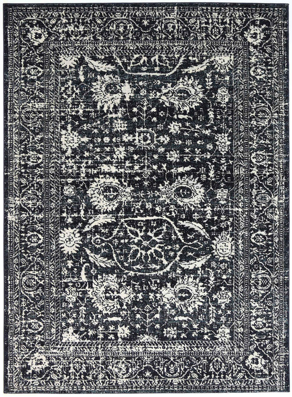 Symphony Modern Distressed Navy Rug
