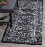 Symphony Modern Distressed Navy Runner Rug