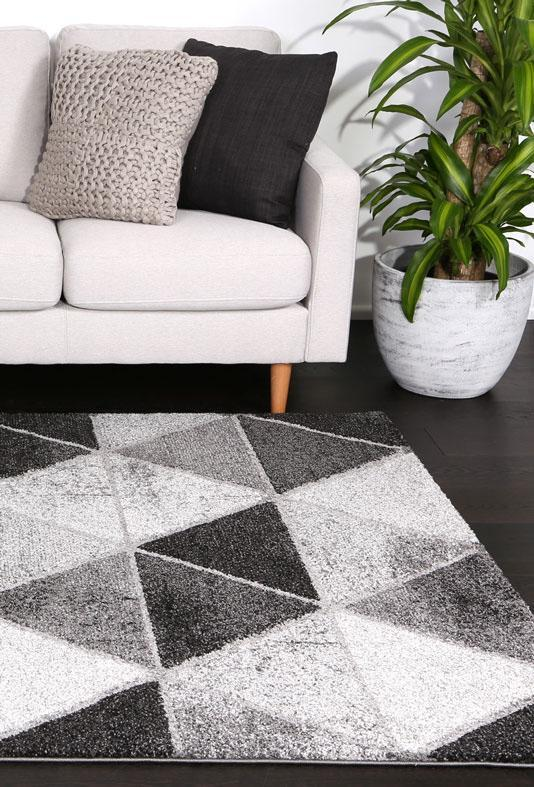 Momo Grey Black Prism Rug