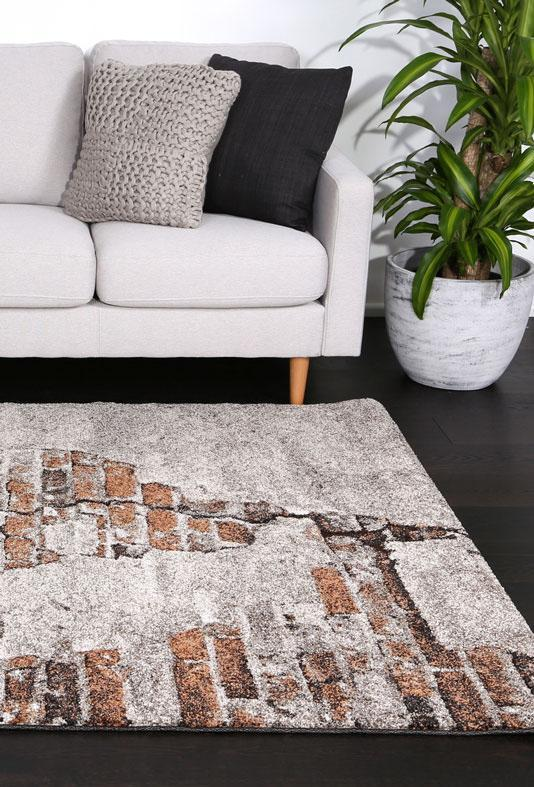 Momo Beige Brown Urban Rug