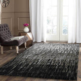 Melbourne Black Grey Rain Storm Rug