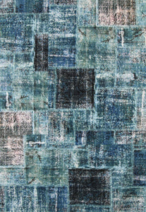 Sterling Patchwork Blue Rug