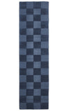 Timeless Boxed Pattern Wool Rug Petrol
