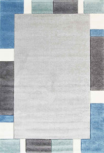 Focus Blue Simple Boarder Rug