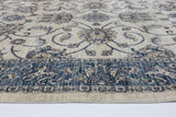 Atlas Vintage Cream Blue Boarder Rug