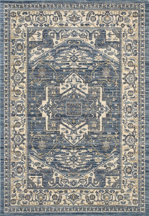 Atlas Classic Traditional Blue Rug