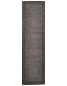 Timeless Loop Wool Pile Grey Coloured Runner Rug