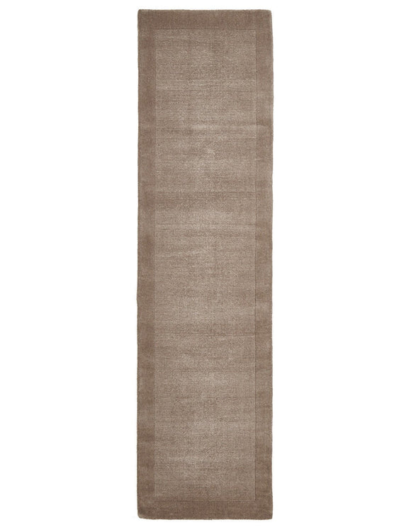 Timeless Loop Wool Pile Latte Coloured Runner Rug