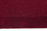 Timeless Loop Wool Pile Red Coloured Rug