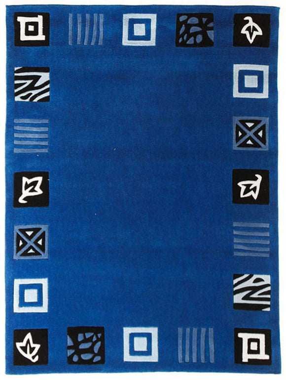 Gold Collection 117 Blue Rug