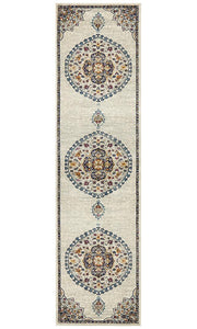 Babylon 202 White Runner Rug