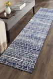 Evoke Culture Blue Transitional Runner Rug