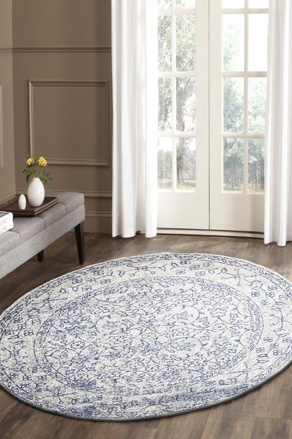 Evoke Whisper White Transitional Round Rug