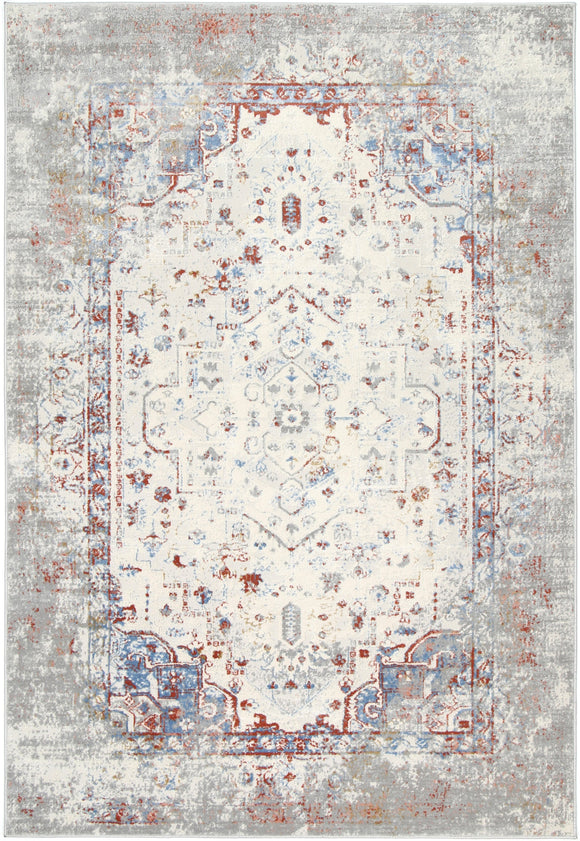 Express Grey Multi Contemporary Rug