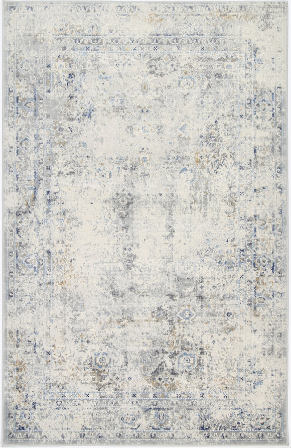 Expressions Navy Blue Contemporary Rug