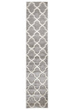 Icon Cross Hatch Modern Rug Silver