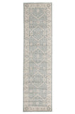 Jewel Chobi Design 800 Light Blue Bone Runner Rug