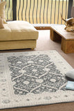 Jewel Chobi Design 800 Navy Grey Bone Rug