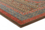 Jewel Antique Heriz Design 805 Brown Red Blue Runner Rug