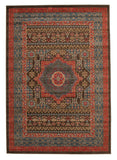 Jewel Antique Heriz Design 805 Brown Red Blue Rug