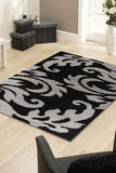 Notes Collection 5 Black And Grey Rug