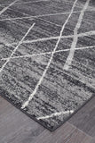 Oasis Noah Charcoal Contemporary Runner Rug