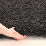 Pandora Collection Thick Soft Polar Anthracite Shag Rug
