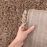 Pandora Thick Soft Polar Shag Runner Rug - Latte