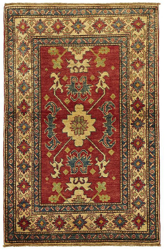 Authentic Afghan Hand Knotted Kazak Rug - Cheapest Rugs Online - 1