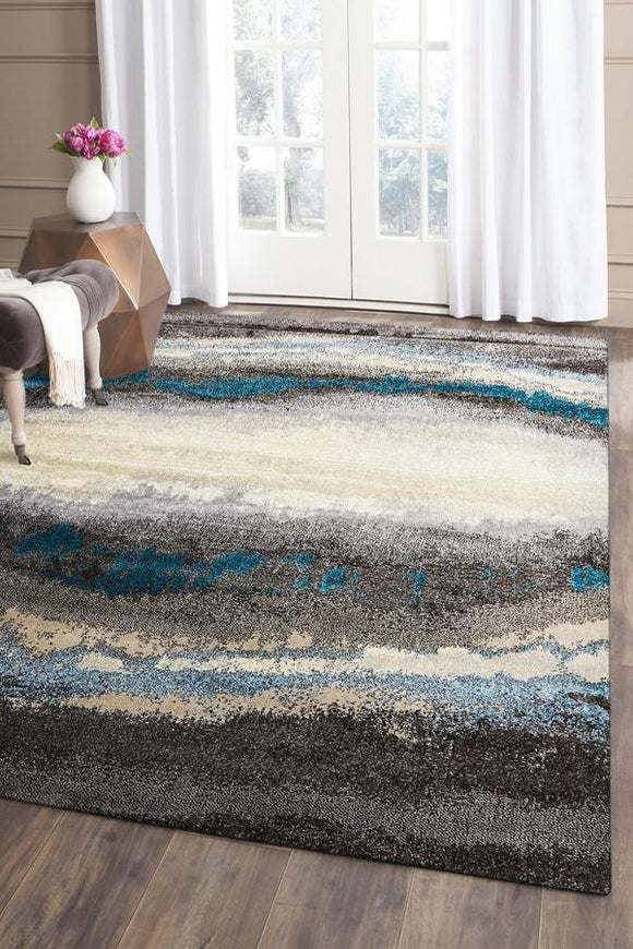 Ruby Collection 330 Blue Rug