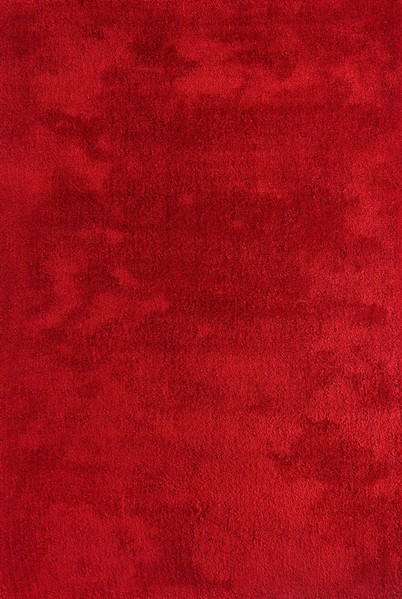 Flutter Red Shaggy Rug