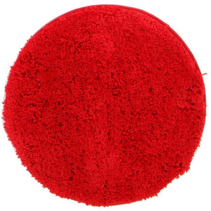 Soho Round Shag Rug Red