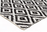 Spirit Owen Diamond Textured Rug Black