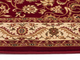Sydney Medallion Runner Red with Ivory Border Runner Rug