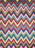 Spirit Multi Colour Chevron Geometric Ikat Rug