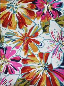 Spirit Cream Floral Flower Patterned Rug