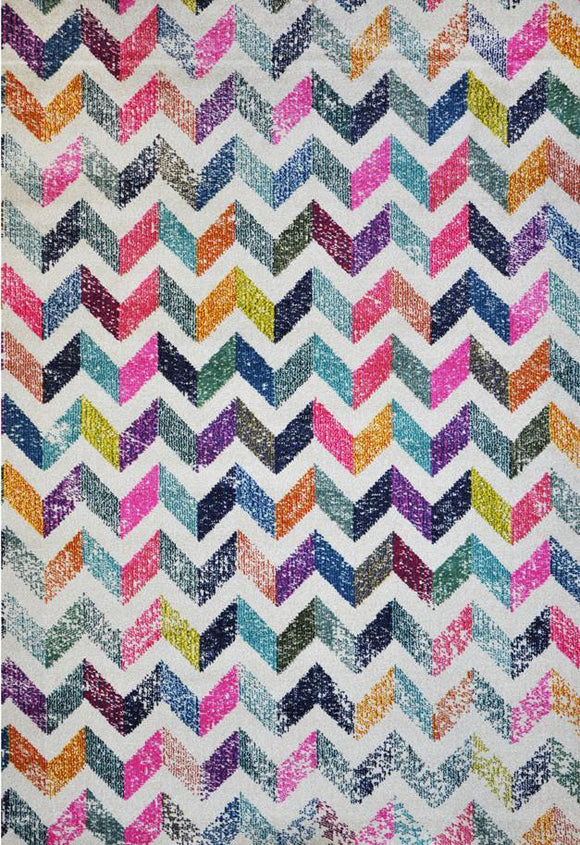 Spirit Cream Geometric Ikat Rug