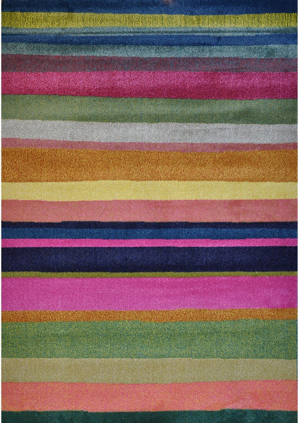 Spirit Multi Colour Stripe Patterned Rug