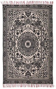 Zulu Totemic Chain Black Rug