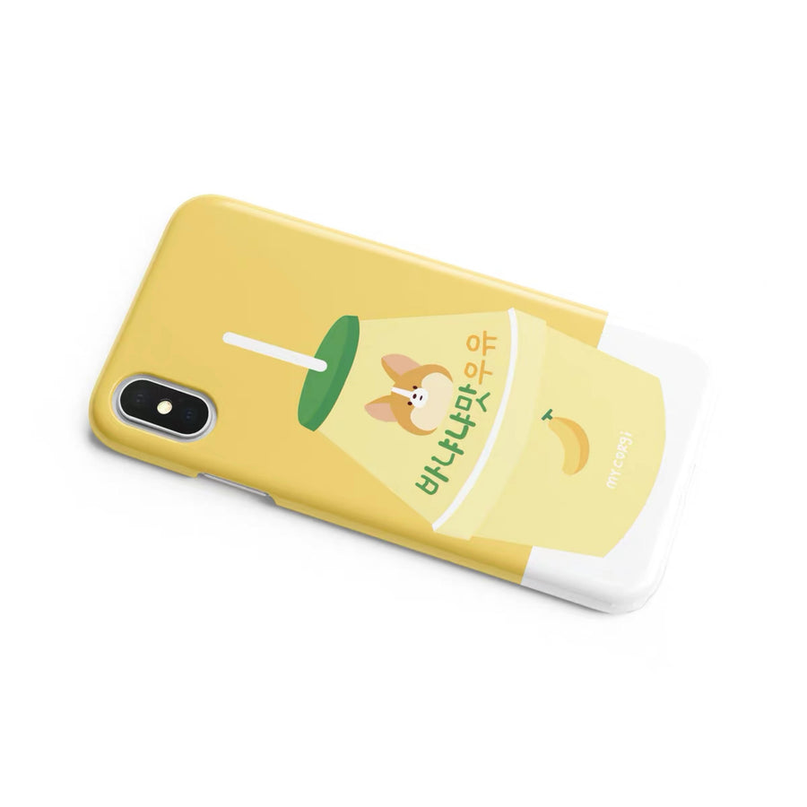 Corgi Banana Milk Phone Case (iPhone)