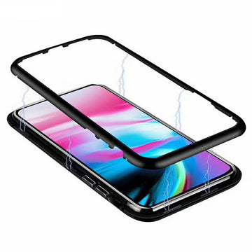 Tempered Glass Magnetic Metal Frame Case (iPhone)