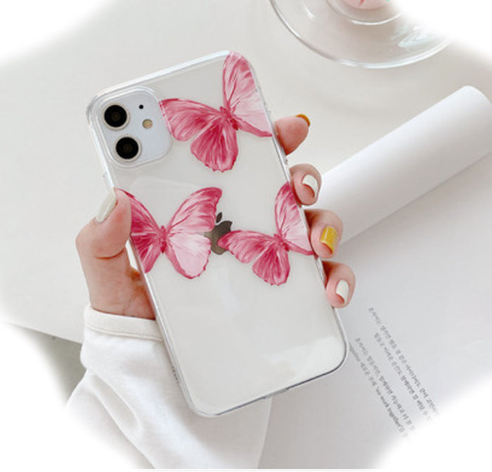 Pink Butterfly Case (iPhone)