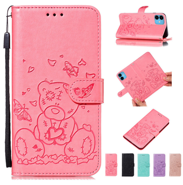 Engraved Teddy Bear Wallet (iPhone)