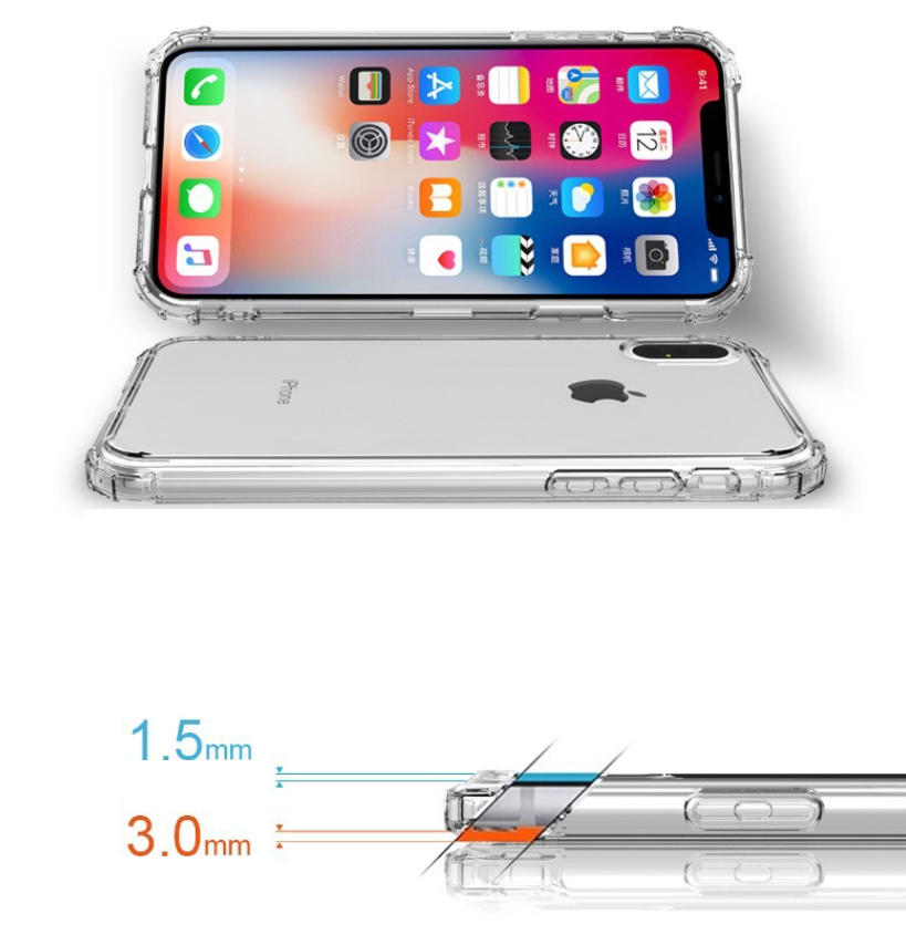 Clear with shock absorbent bumpers (iPhone)